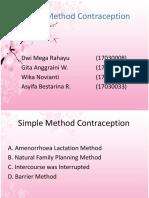 Simple Method Contraception Fix