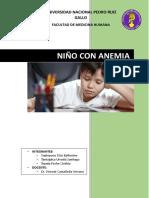 Niño Con Anemia