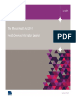 Health Services MH Act 2014 Information Session Presentation Compatibility Mode - PDF