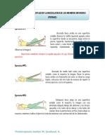 Ejercicios Para Fortalecer La Musculatura de Los Miembros Inferiores