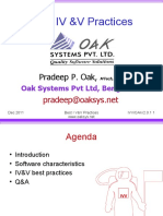Best practices in software IV&V - Pradeep Oak