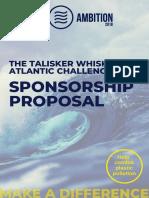 Atlantic Ambition - Sponsorship Proposal