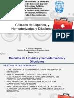 Calculos de Liquidos, Electrolitos y Hemoderivados y Diluciones 2019