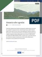 Rodolfo Montaño. Denuncia de agresión ecológica