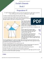 Euclid's Elements, Book I, Proposition 47