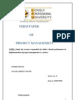 Term Paper of Project Management.