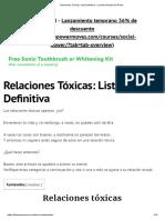 Relaciones Tóxicas_ Lista Definitiva - Los Movimientos de Poder
