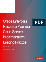Oracle ERP Implementation Leading Practices