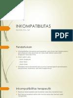 Meet 2. Inkompatibilitas