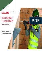Anchoring to Masonry