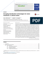Emerging Desalination Technologies for Water Treatment
