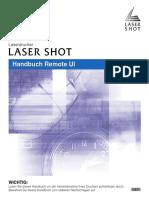 Canon LaserShot LBP-5000 Remote UI Deutsch
