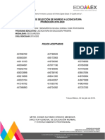 Resultados Normal Superior Edomex 2019