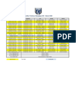 Calendrier TO XIII 2019