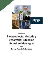 Biotecnologia Historia y Desarrollo Situ
