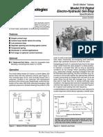 Model 210 Digital Electro-Hydraulic Set Stop