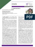 Columna de Opinión - Cambio Climatico, Innovación y Economía Circular