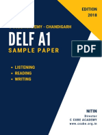 DELF A1 Sample Paper 2 With Answers Key 1