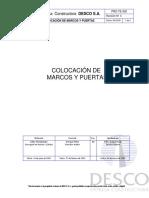 PRO-TE-303 Colocación de Marcos y Puertas-2