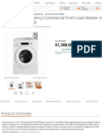 Whirlpool 3.1 Cu. Ft. High-Efficiency Commercial Front Load Washer in White, EnERGY STAR-CHW9050AW