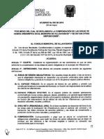 Acuerdo No 292 Del 02 de Junio de 2016