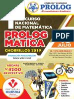 8. 1er. Concurso Nacional de Matemática - I.E.P. Prolog de Chorrillos.