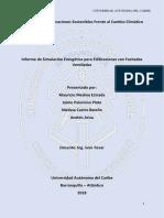 Informe Simulacion Energetica, Facahada Ventilada 1.0