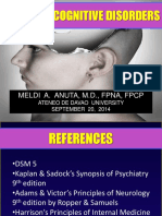 The Neurocognitive Disorders - Handout