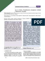 Antimicrobial Resistance in Strains Pseudomonas Aeruginosa Isolated From Termal Waters at Chimborazo, Ecuador