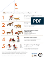 Five Tips to Prevent Dog Bites Poster