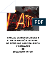 Manual de Bioseguridad y PGIRHS de Bucaneros Tatto