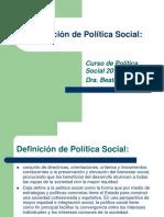 Definición de Política Social.ppt