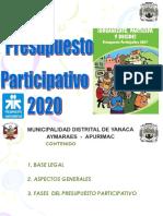 Presupuesto Participativo Yanaca 2020.ppt