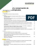 Biodiversidad y Conservacion de Bosques Neotropicales
