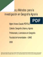 Fuentes y Metodos Para La Investigacion en Geografia Agraria