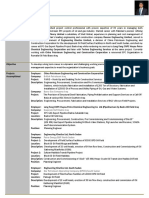 Resume sample planning engineer