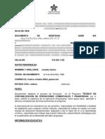 HOJA de VIDA - Técnico en Contabilización de Operaciones Comerciales y Financieras