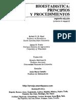 Bioestadistica Principios Y Procedimientos 2ed Steel Robert G