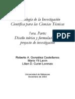 Metodologia de La Investigacion.diseno Teorico y Formulacion Proyecto Investigacion