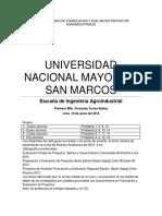 Tema Encargado de Formulacion y Evaluacion Proyectos Agroindustriales Unmsm 2019