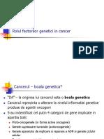 Rolul factorilor genetici in cancer