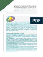 Los 12 Principios Para Implantar Un Programa de Acciones Correctivas