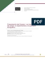 Vvaa_Presentación del Dossier. Los trabajos de campo, lo experimental y el quehacer etnográfico.pdf