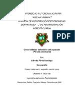 Generalidades del cultivo del aguacate
