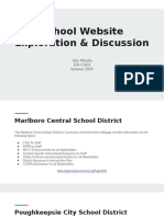 school website exploration   discussion