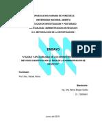 Enfoques de La Investigacion Cientifica en El Area de La Administracion de Empresas