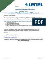 00 Feb 2013 Price Book Annoucement