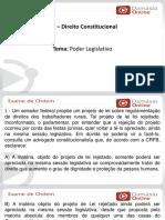 PPTRQ - Constitucional - Poder Legislativo