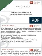 PPTRQ - Constitucional - Controle Concentrado e Federalismo