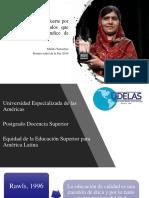 Equidad de La Educación Superior Para América Latina